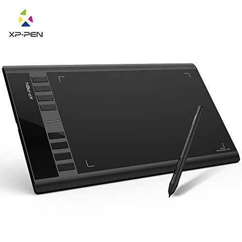 XP-Pen Star03 V2 Tablette Graphique 12 Pouces avec Stylet Passif 8192 Niveaux et 8 Raccourcis Noir Pallette Dessin Numérique
