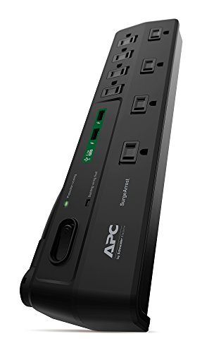 Power Strip with USB Charging Ports, Surge Protector P8U2, 2670 Joules, Flat Plug, 8 Outlets