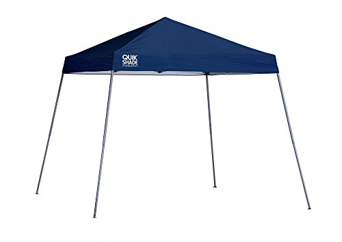 Quik Shade Expedition 10 x 10-Foot Instant Canopy, Slant Leg Outdoor Tent, 64 Square Feet of Shade for 8-12 People - Navy Blue