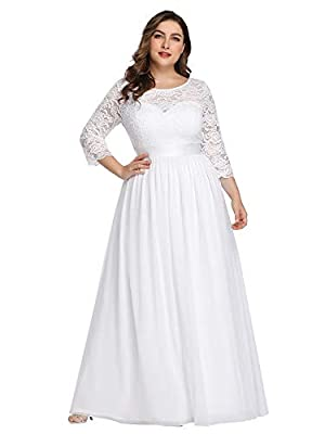 Please refer to Size Guidence Carefully Before Purchasing. Fully Lined, Padded in the bust, Zipper Up at the Back, Low Stretchy. Features: Cap Sleeves, Ruched On the Bust and Waist, Round Neckline Decorated with Lace and Rhinestones,Maxi Dress. Perfe...