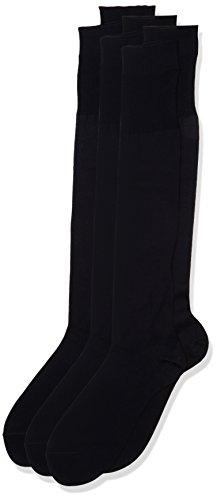POMPEA Scozia Calze al ginocchio, Blu (Navy 1556), 42/43 (Taglia produttore:11/11.5) (Pacco da 6)...