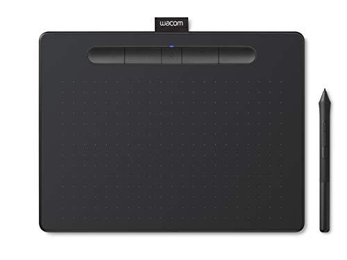 【Amazon.co.jp限定】ワコム ペンタブレット Wacom Intuos Mediumワイヤレス クリスタ付き 黒 Androidにも...