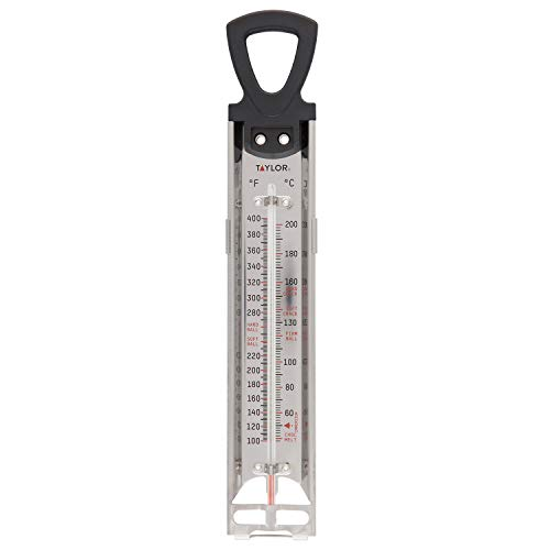 Taylor Precision Products RA17724 5983Candy & Deep Fry Stainless Steel Paddle Thermometer, 12 inches, 1 EA, Multicolor