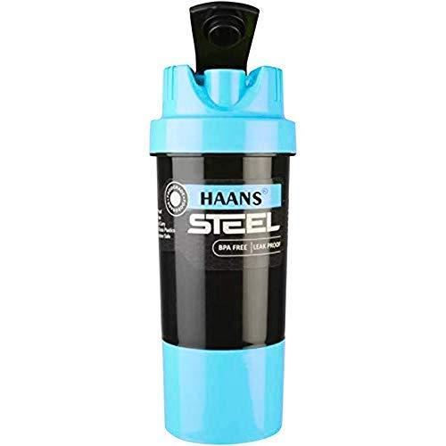 DOVEAZ Steel Shaker | Stainless Steel Shaker | Protein Shaker | Steel Protein Shaker | Gym Shaker | Gym Bottle | Protein Bottle | Bpa Free Shaker | Steel Shaker 400ml (Blue)