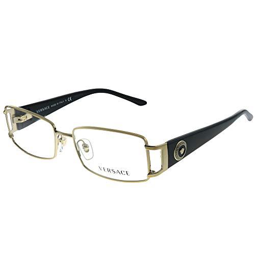 Versace VE 1163M 1252 Pale Gold Metal Rectangle Eyeglasses 52mm