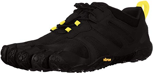 Vibram Men's V 2.0 Trail Running Shoe, Black/Yellow, 42 D EU (42 EU/9.0-9.5 M US D EU US)