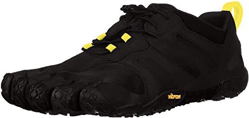 Vibram FiveFingers 19M7601 V-Trail 2.0, Traillaufschuhe Herren, Schwarz (Black/Yellow), 45 EU