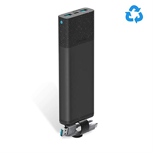 Nimble 3-Day Fast Portable Charger, 10000 mAh 18W PD Fast Charging USB-C Wireless Portable Power Bank Compatible with Apple, Samsung, and USB-Enabled Devices (Recyclable Aluminum, Travel Safe)