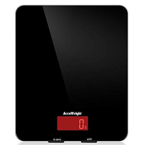 ACCUWEIGHT Bilancia Digitale da Cucina Elettronica Bilance Alimenti Multifunzionale con Display LCD...