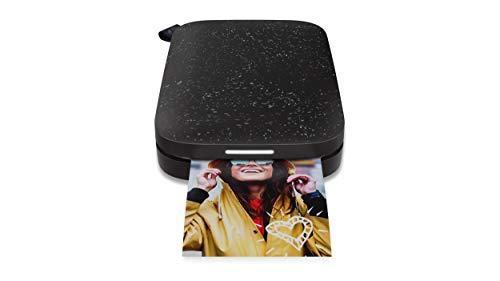 HP Sprocket Mobiler Fotodrucker (Drucken ohne Tinte, Bluetooth, 5 x 7,6 cm Ausdrucke) Noir