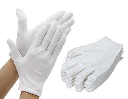 TooTaci Guanti in cotone bianco 12 paia (24 guanti) Guanto per lavori morbidi pi spesso e...