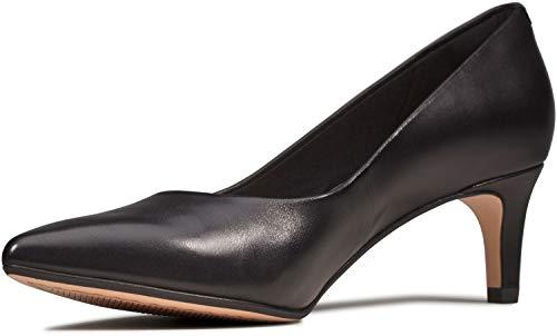 Clarks Laina55 Escarpins pour femme, noir (cuir noir), 37 EU