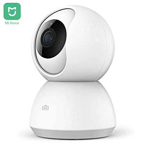 Xiaomi IMI Mi Home 1080P HD Smart Wireless IP Telecamera di Sicurezza per Sorveglianza Interna WiFi Pan/Inclinazione Audio Bidirezionale Visione Notturna Rilevazione Movimento Monitor Remoto (Bianco)