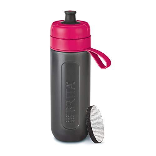 BRITA S1199 Water Filter Bottle Active, reduces chlorine and organic impurities, BPA free, Pink, 600ml