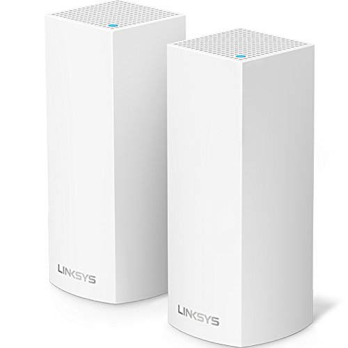 Linksys Velop Mesh Router (Tri-Band Home Mesh WiFi System for Whole-Home WiFi Mesh Network) 2-Pack, White