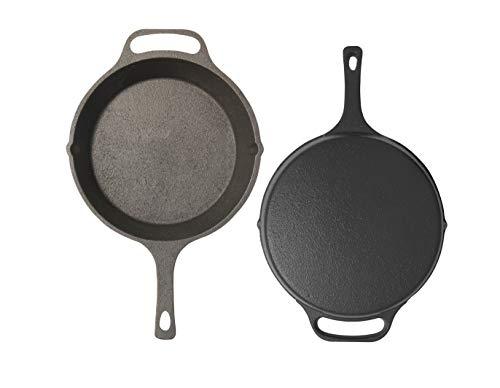 hathmic Pre-Seasoned Cast Iron Skillet for Restaurant and Kitchen (Black, 10.25 Inch, 3 kg)
