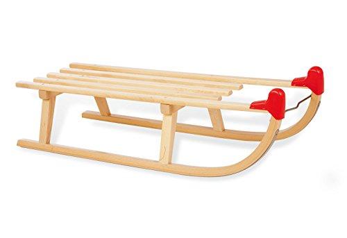 Pinolino Davos-Schlitten aus Holz, mit Pinolino Branding, Belastbarkeit 90 kg, für Kinder ab 3 Jahren, klar lackiert