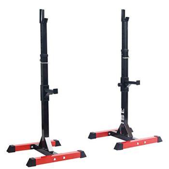ISE Cage de Squat Supports de Squat Réglable Squat Rack avec Barres de Support Charge Max.200 KG,SY-RK1001