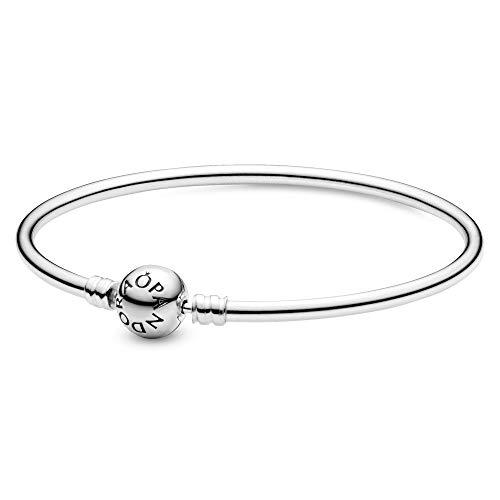 PANDORA Jewelry Bangle Charm Sterling Silver Bracelet, 8.3'