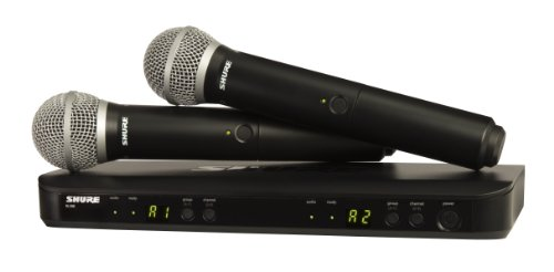 8. Shure BLX288/PG58 Dual Wireless Microphone System