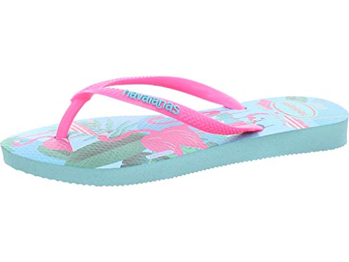 Havaianas Disney Cool, Infradito Bambina, Multicolore (Ice Blue/Shocking Pink 9548), 31/32 EU