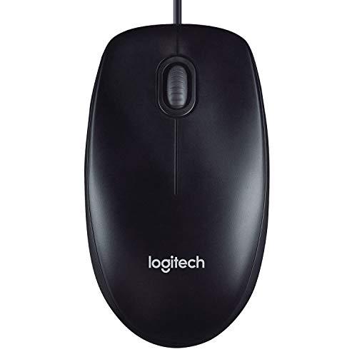 Logitech M90 Souris Filaire USB, Suivi Optique 1000 PPP, Ambidextre, Compatible avec PC/Mac/Portable - Noire