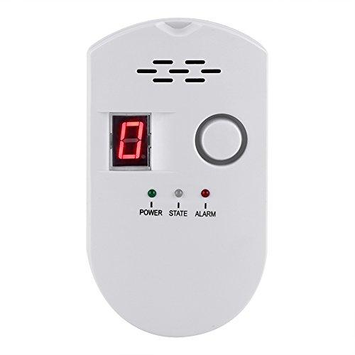 Asixx Detector de Advertencia del Gas, Sensor de Alarma de Seguridad del Gas, para Detectar GLP, Gas Natural Y Gas de Carbón En La Cocina de La Casa, Hotel O Restaurante(美规)
