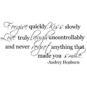 Wheeler3Designs Forgive Quickly Audrey Hepburn Quote Wall Decal Saying Vinyl
