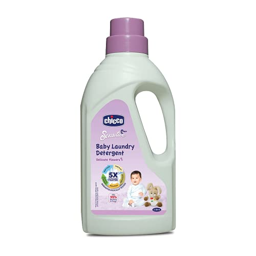 Chicco Baby Liquid Laundry Detergent, 5X Stain & Germ Fighter, Kills 99% of Germs, Dermatologically...