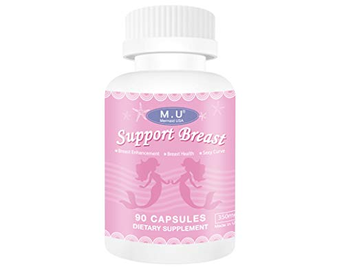 M.U Natural Breast Enhancement Pills Support Breasts Lift Firm Health Supplement Natural and Green Herb to Fight Lumps of PRO Formula M.U Mermaid USA