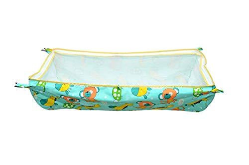 Sunflower Soft Cloth Swing Baby Cradle/Ghodiyu/Khoyu Hammock in Cool Cotton with Net, Blue