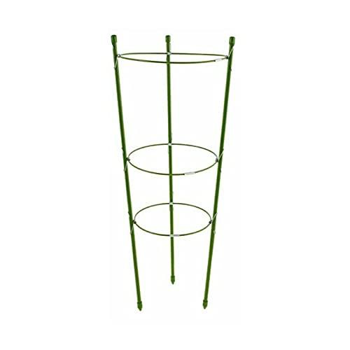 EUNEWR Tutor para tomates, anillos de altura regulable, varillas para plantas, balcón, bancal, plástico, 45 cm de largo, verde (45)