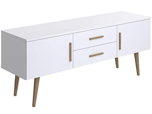 Movian, mobile TV a 2 sportelli e 2 cassetti in stile scandinavo, modello Adour, 40 x 140 x 56 cm,...