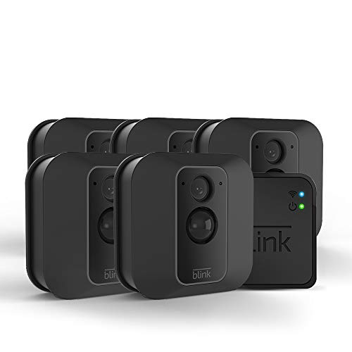 Blink XT2 Outdoor/Indoor Smart Security Camera with cloud storage included, 2-way audio, 2-year battery life  5 camera kit