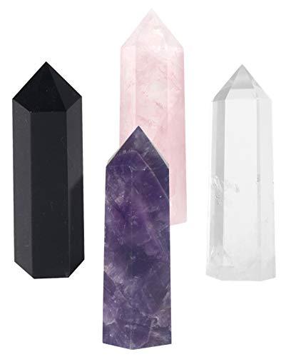 Luckeeper Healing Crystal Wands,2' Amethyst Crystal, Rose...