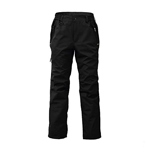 8 Fans 2-ply Fishing Hiking Trawler Pant with Pockets Outdoor Quick Dry Breathable Trouser for Men & Women Waterproof (XX-Large) Black