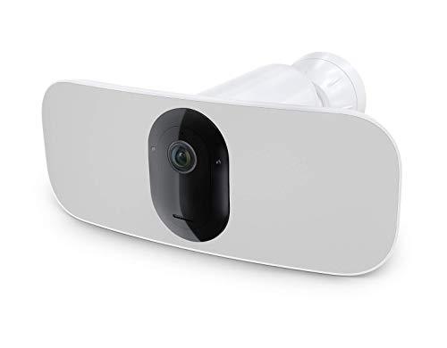 Arlo Pro 3 Floodlight, Telecamera di sorveglianza senza fili, Riflettore e Sirena integrati, Visione Notturna a Colori, Video 2K HDR, Audio 2 Vie, Angolo 160 °, Interno/Esterno, Bianco