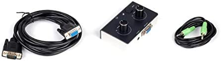 Replacement Control Pod Black Over White Compatible for Logitech Z-2300 Computer Speakers B/W