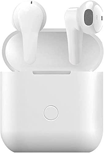 Écouteurs sans fil Bluetooth 5.0 avec suppression du bruit IPX5, écouteurs intra-auriculaires étanches avec micro intégré et son 3D, compatible avec Phone/Android/Samsung pour le travail, la maison
