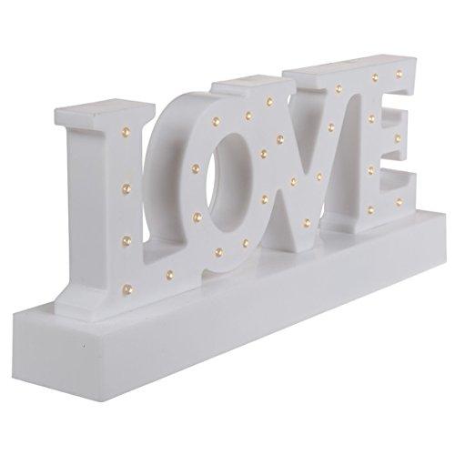 OOTB Decoración Love 27 luces led 30x12cm, blanco