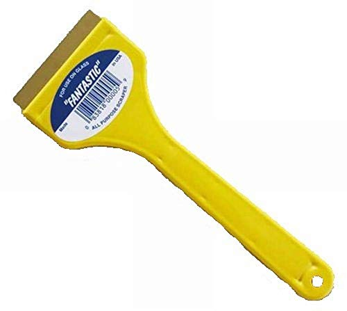 CJ Industries F-1 Fantastic Ice Scraper with Brass Blade, Yellow