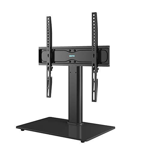 BONTEC Universale Supporto TV, Altezza Regolabile Piedistallo Stand per Schermo 26-55 Pollici LCD/LED/Plasma, VESA max 400x400 mm, che Regge fino a 40 Kg