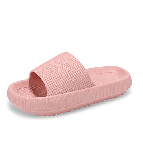 incarpo Unisex Chanclas y Sandalias de Piscina para Mujer Zapatillas Casa Hombre Verano Pantuflas de baño,Rosa,36/37
