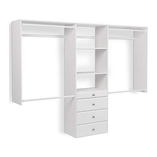 Easy Track OK7272 Deluxe Tower Closet Storage Wall Mounted...