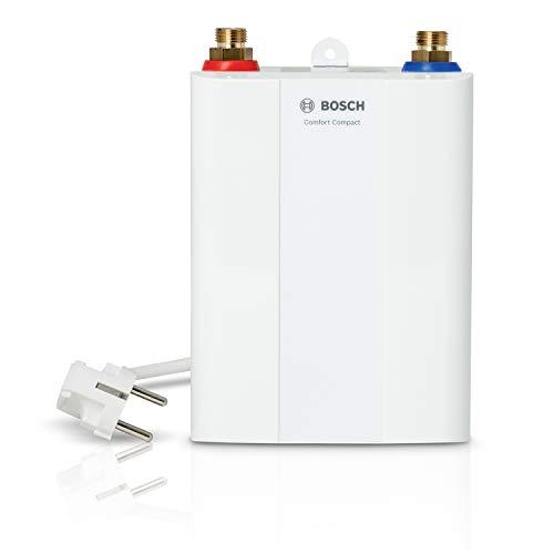 Bosch elektronischer Kleindurchlauferhitzer Tronic 4000 4 ET, steckerfertiger, kompakter Untertisch Durchlauferhitzer zur schnellen Montage, Energieklasse A, 3,6 kW