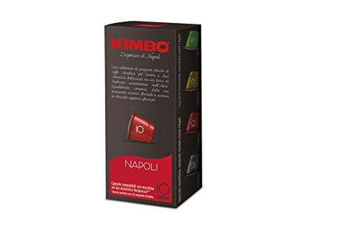 Kimbo Capsule Napoli Compatibili Nespresso -10 Astucci da 10 Capsule (Totale 100 Capsule)