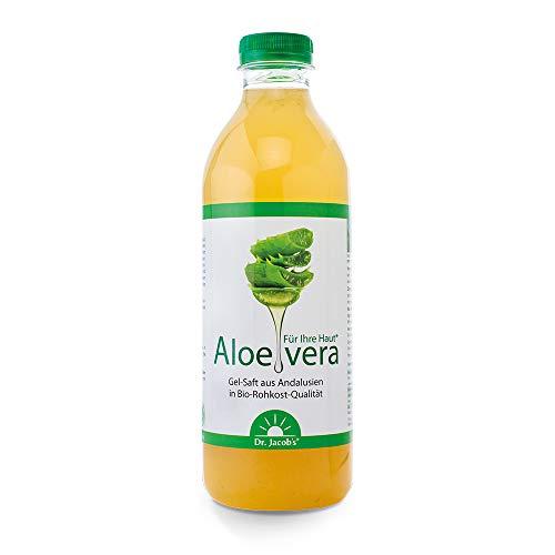 Dr. Jacob's Aloe-vera-Gel-Saft BIO 1 Liter mit natürlichem Vitamin C aus Acerolakirschpüree I ohne Zucker und Zusatz- & Konservierungsstoffe I Rohkost-Qualität I kontrolliert biologisch angebaut