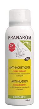 Pranarôm Aromapic Spray Corporel Anti-Moustiques Promo aux Huiles Essentielles Biologiques, 100 ml