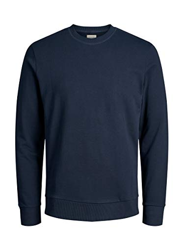 JACK & JONES JJEHOLMEN Sweat Crew Neck Noos Felpa, Blu (Navy Blazernavy Blazer), Medium Uomo