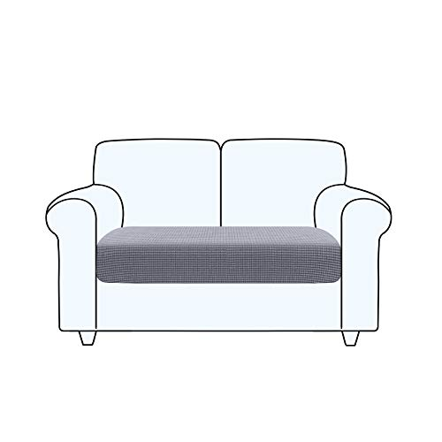 TAOCOCO Copriseduta Divano Elasticizzato Alta qualit Protezione del Cuscino Sedile del Divano Lavabile (2 Posti, Grigio chiaro)
